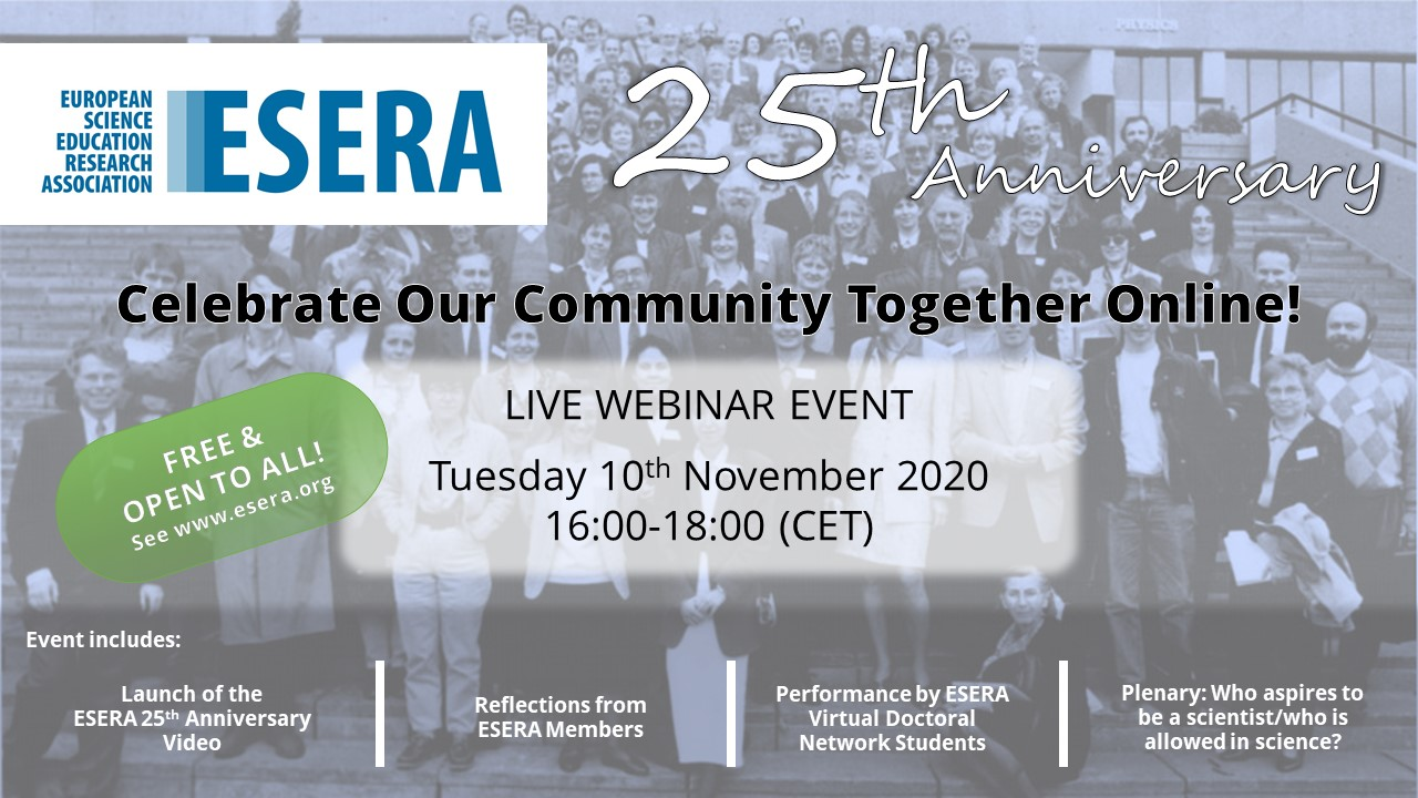 ESERA 25th Anniversary Event Advert Draft 8